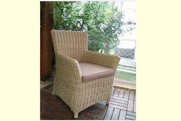 cadeira aluminio com trama em fibra sintetica cordão area externa