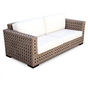 sofa Ametista em aluminio, fibra sintética e tecidos area externa