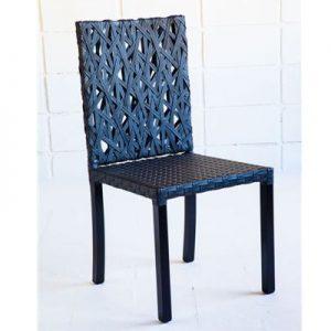 cadeira em aluminio e fibra sintetica trama especial para varanda gourmet