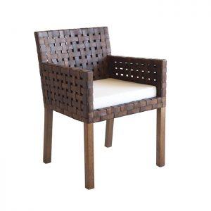 cadeira bali braco couro