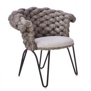cadeira em aluminio e trico sintetico para varanda gourmet
