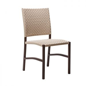 cadeira em aluminio com trama em fita nautica para varanda gourmet