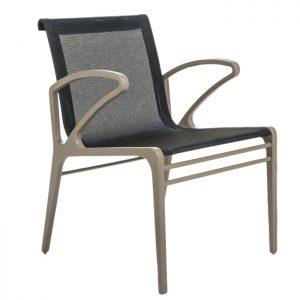 cadeira em aluminio e tela sling para area externa