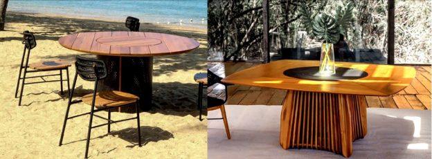 mesas em madeira teca, mesas em aluminio, mesas em madeira cumaru