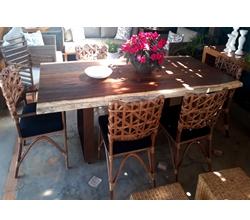 mesa tampo em madeira demolição para area externa