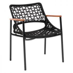 cadeira acalanto em aluminio e corda nautica para varanda gourmet