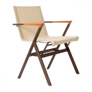 cadeira para area externa em aluminio e tela sling especiais