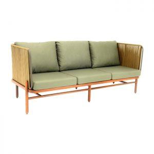 sofa em corda nautica para varanda gourmet area externa