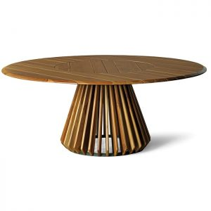 Mesa em madeira teca para varanda gourmet