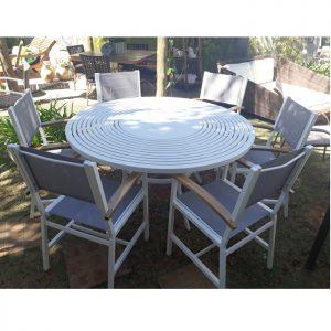 mesa tampo de aluminio para area externa
