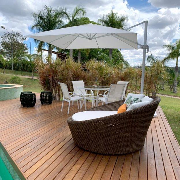 ombrelones laterais para piscina