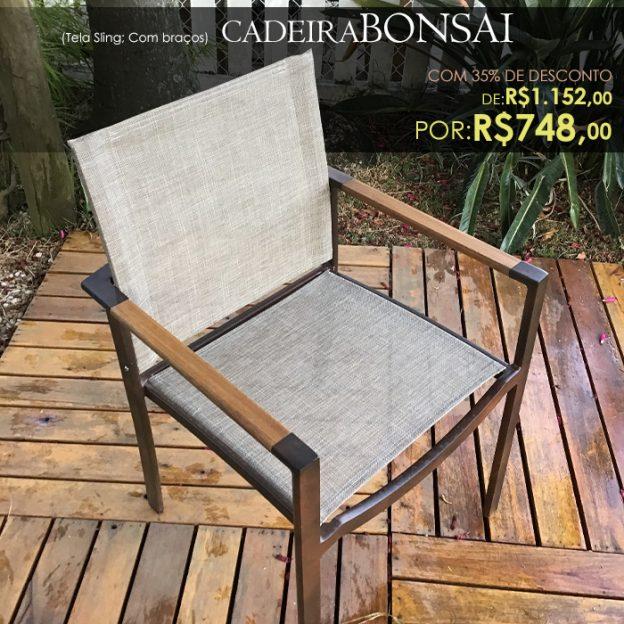 Cadeira Bonsai Tela sling para piscina e area externa