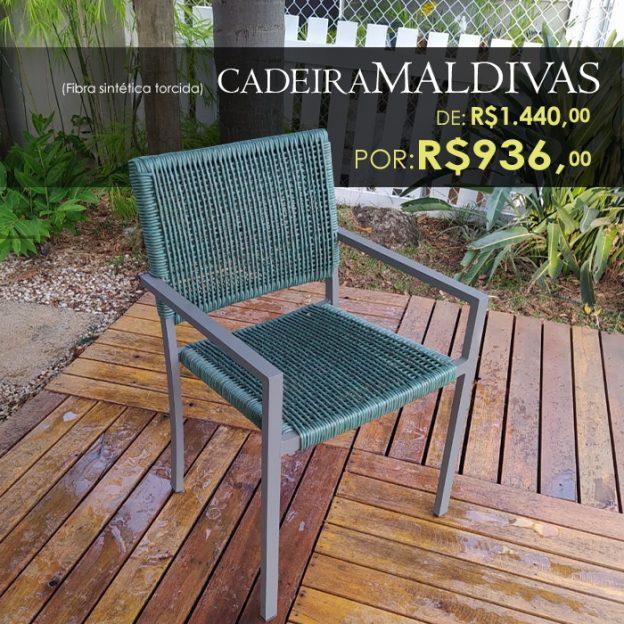 Cadeira Maldivas em fibra sintetica para area externa e piscina