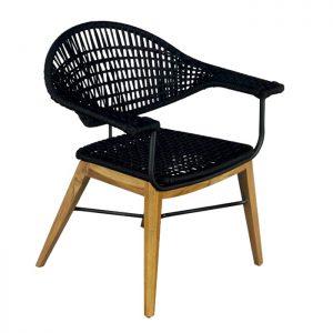 Cadeira Abba corda nautica para varanda gourmet e area externa
