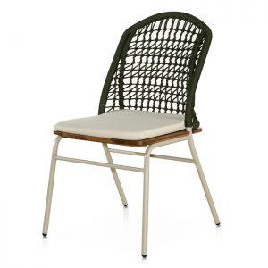 cadeira em alumínio e corda nautica