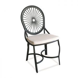 cadeira derby em aluminio e corda nautica para area externa