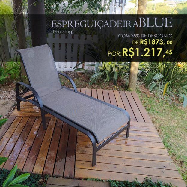 ESPREGUIÇADEIRA BLUE TELA SLING PARA PISCINA E AREA EXTERNA