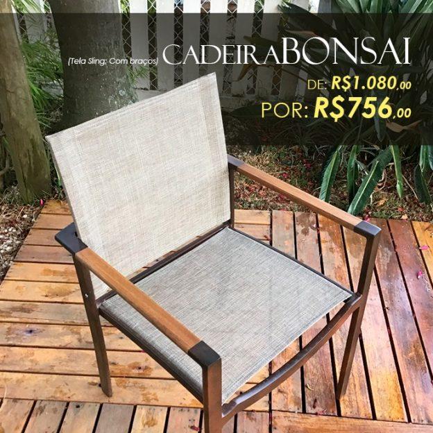 Cadeira Bonsai tela sling para área externa CAmpinas, Valinhos, Vinhedo, Jundiai, Itatiba