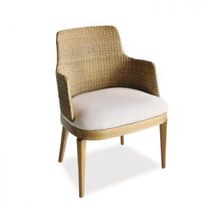Cadeira boston em fibra natural para varanda gourmet