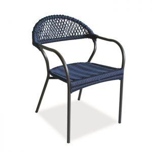 cadeira aurora em corda nautica para area externa e varanda gourmet