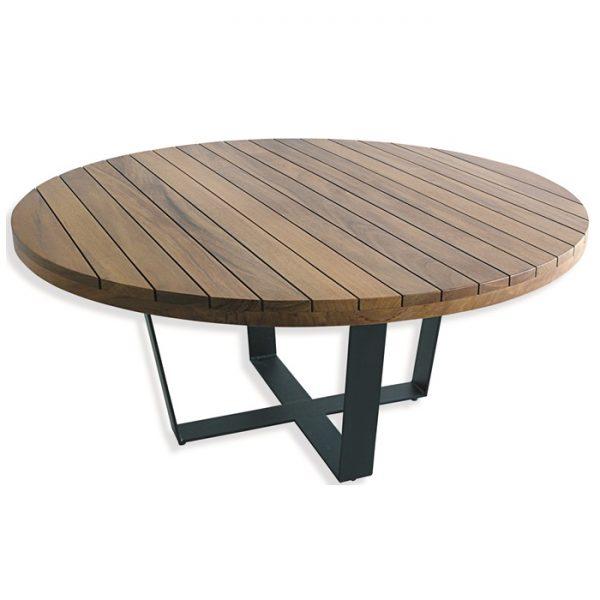 mesa Veneza pés em aluminio com tampo em madeira naval para area externa e varanda gourmet