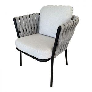 Cadeira Foggia em trico sintetico para varanda e areas externas