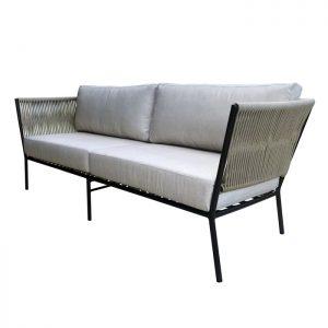Sofa em aluminio e corda nautica para area externa e varanda gourmet Valinhos e Campinas