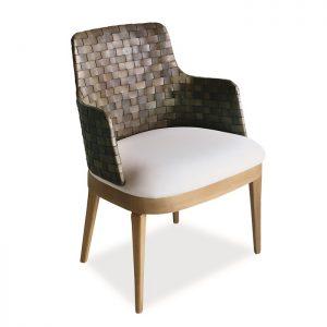 Cadeira Boston em couro natural para varanda gourmet e area interna