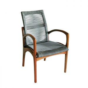Cadeira de corda nautica para varanda gourmet e area externa