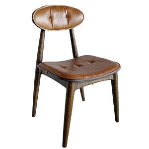 cadeira em madeira e couro natural para area externa e varanda gourmet