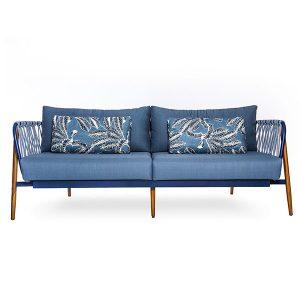 sofa em corda nautica para varanda gourmet