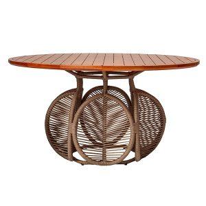 mesa redonda para area externa e varanda gourmet