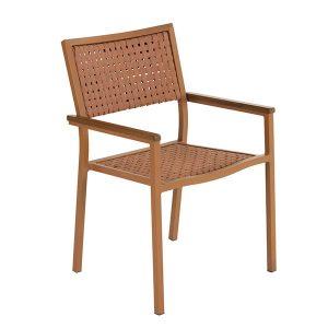 cadeira com braço em corda nautica para area externa