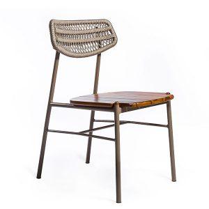 cadeira em aluminio e corda nautica para varanda gourmet