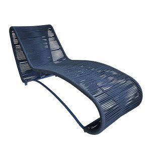 chaise em alumínio e trama em corda nautica para área externa e varanda gourmet