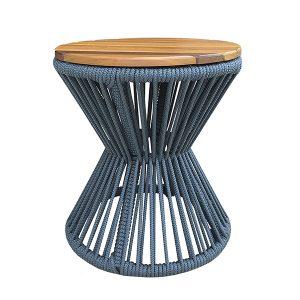 mesa de apoio em corda nautica para area externa e varanda gourmet