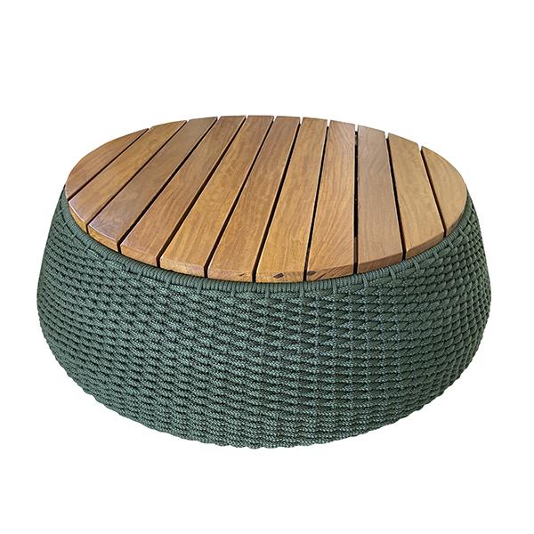 mesa de centro em corda nautica para area externa