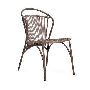 cadeira em aluminio e corda nautica para area externa e varanda gourmet