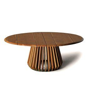mesa de centro em madeira teca para area externa e varanda gourmet