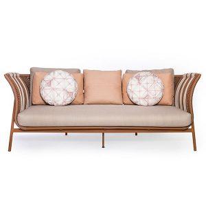 sofa em corda nautica para area gourmet