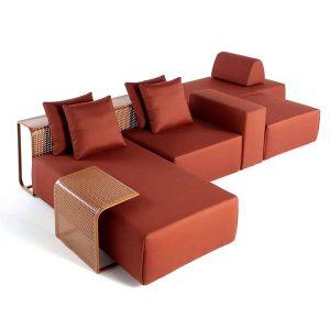 sofá especial para exposição ao sol e chuva