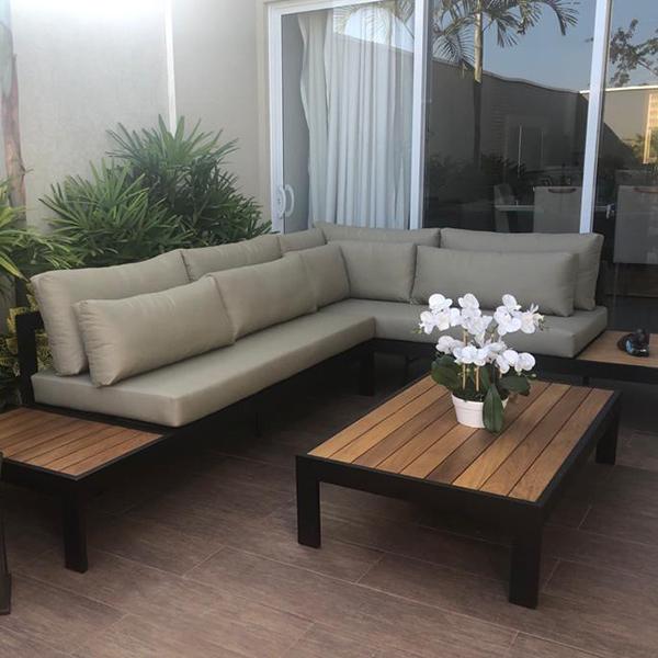 sofas para area externa e varanda gourmet